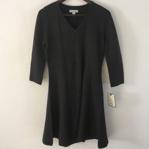 Dana Buchman Charcoal, Knit Dress